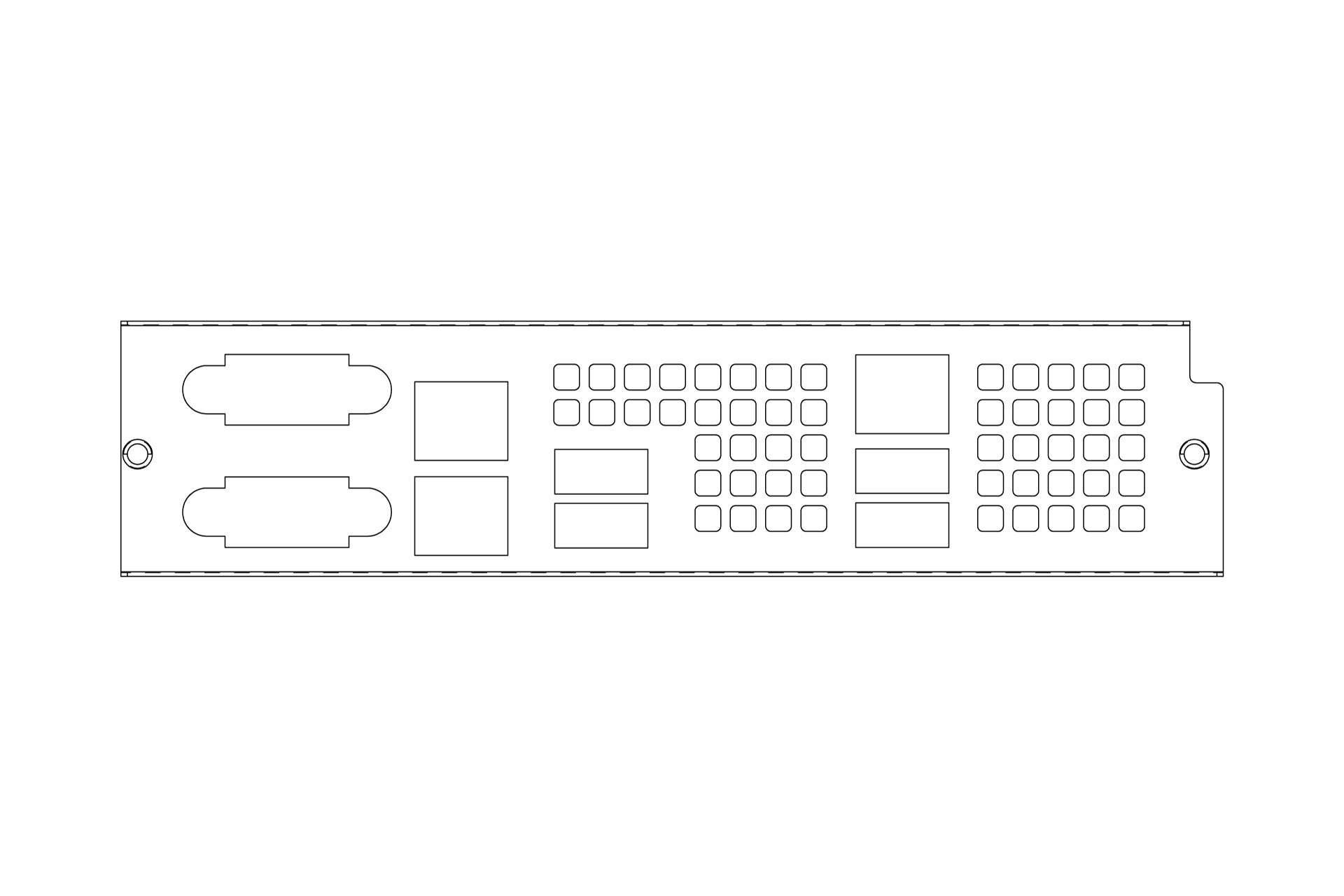 Back I/O Shield Plate - server system assembly