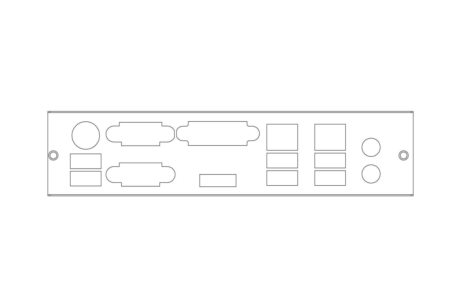 1U Rackmount Chassis / InWin / IW-RA102